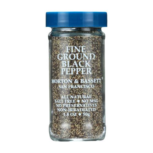 Morton & Bassett Seasoning - Pepper - Fine Ground - Black - 2 oz - Case of 3