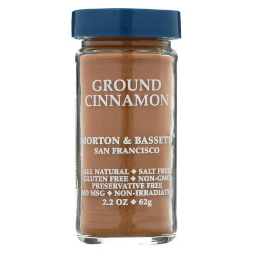 Morton & Bassett Seasoning - Cinnamon - Ground - 2.7 oz - Case of 3