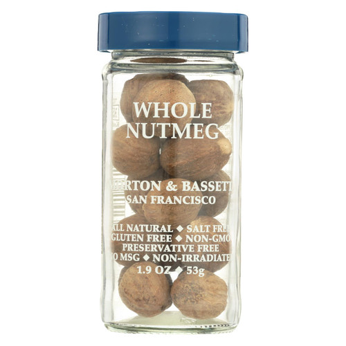Morton & Bassett Seasoning - Nutmeg - Whole - 2.2 oz - Case of 3