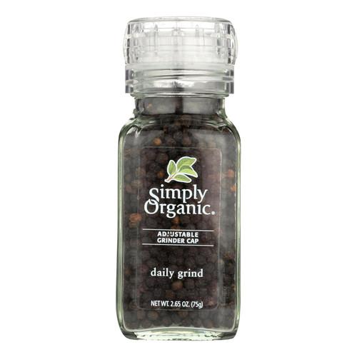 Simply Organic Daily Grind Black Peppercorns - Organic - Grinder - 3 oz