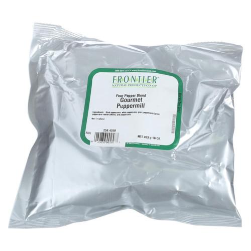Frontier Herb Peppermill - 4 Pepper Blend - Bulk - 1 lb