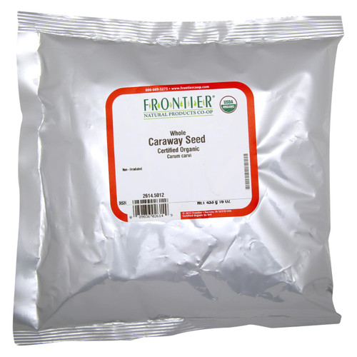 Frontier Herb Caraway Seed - Organic - Whole - Bulk - 1 lb