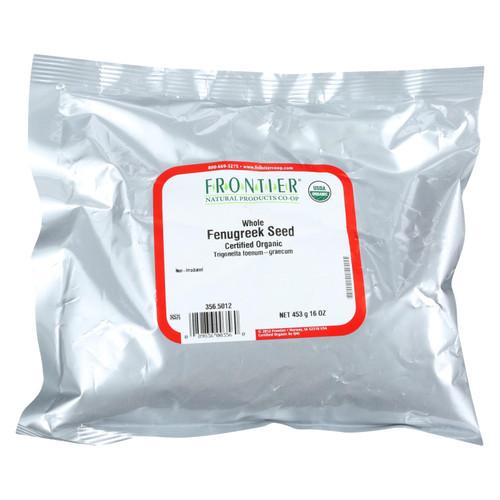 Frontier Herb Fenugreek Seed - Organic - Whole - Bulk - 1 lb