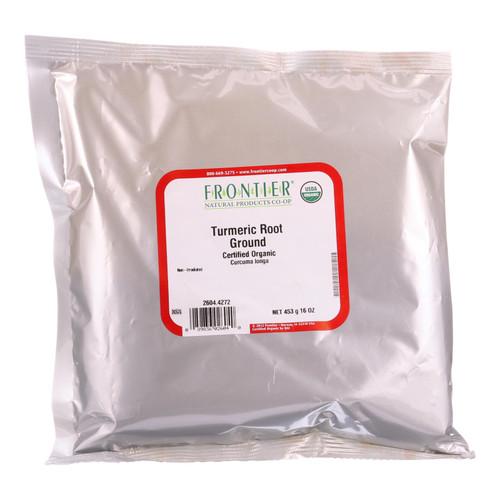 Frontier Herb Turmeric Root - Organic - Powder - Ground - Bulk - 1 lb