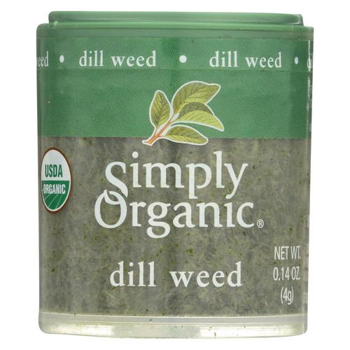 Simply Organic Dill Weed - Organic - .14 oz - Case of 6