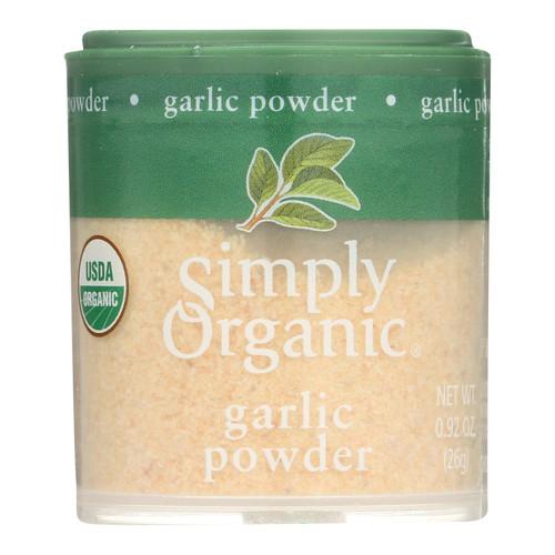 Simply Organic Garlic - Organic - Powder - .92 oz - Case of 6
