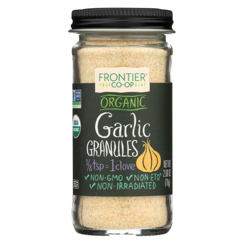 Frontier Herb Garlic - Organic - Granules - 2.70 oz