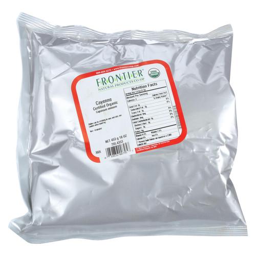 Frontier Herb Cayenne Chili Powder - Organic - Ground - 30000 HU - Bulk - 1 lb