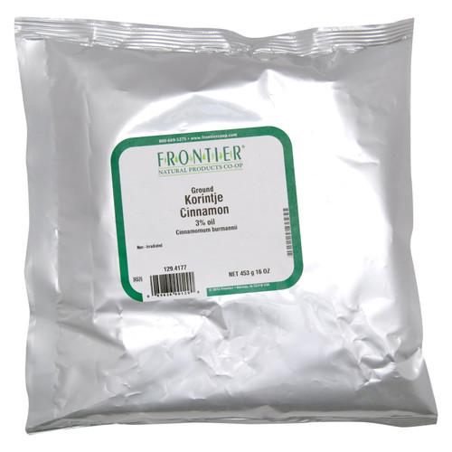 Frontier Herb Cinnamon - Ground - Korintje - A Grade - Bulk - 1 lb