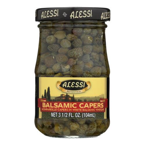 Alessi Capers in White Balsamic Vinegar - 3.5 oz - Case of 6