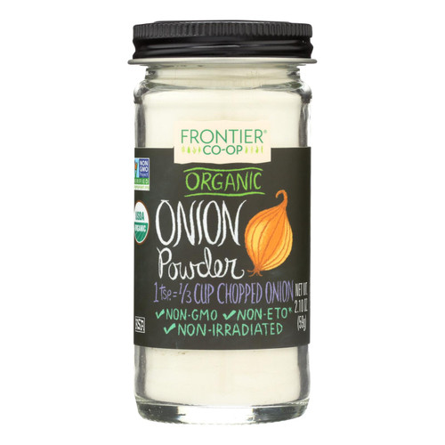 Frontier Herb Onion - Powder - Organic - White - 2.10 oz