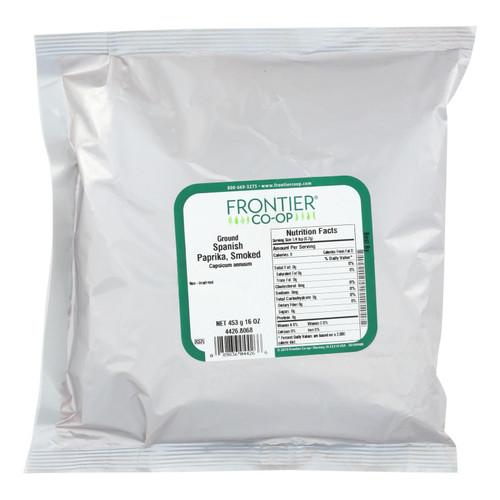Frontier Herb Paprika Powder - Smoked - Spanish - Ground - Bulk - 1 lb