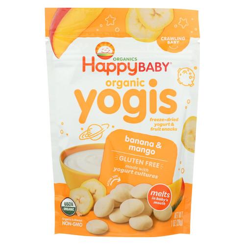 Happy Baby HappyMelts Organic Yogurt Snacks for Babies and Toddlers Banana Mango - 1 oz - Case of 8