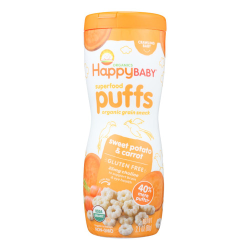 Happy Baby Happy Puffs Sweet Potato - 2.1 oz - Case of 6
