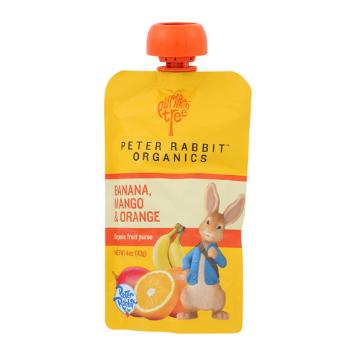 Peter Rabbit Organics Fruit Snacks - Mango Banana and Orange - Case of 10 - 4 oz.