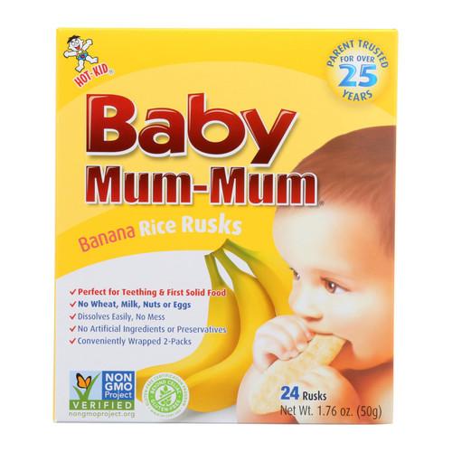 Hot Kid Baby Mum Rice Biscuit - Banana - Case of 6 - 1.76 oz.