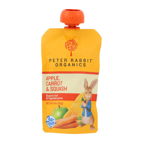 Peter Rabbit Organics Veggie Snacks - Carrot, Squash and Apple - Case of 10 - 4.4 oz.