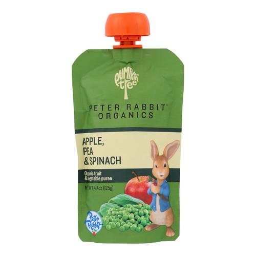 Peter Rabbit Organics Veggie Snacks - Pea, Spinach and Apple - Case of 10 - 4.4 oz.