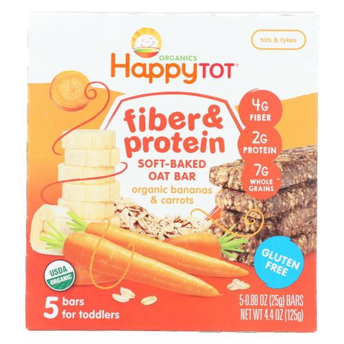Happy Tot Happy Tot Fiber and Protein - Apple, Peach, Pumpkin and Cinnamon - Case of 6 - 0.88 oz.