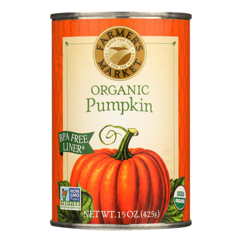 Organic Pumpkin - Canned - Case of 12 - 15 oz.