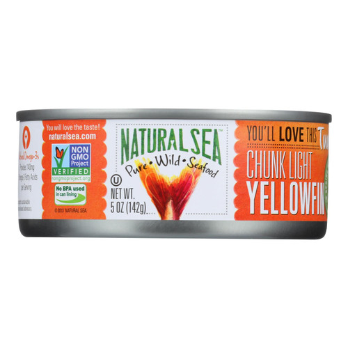 Natural Sea Wild Yellowfin Tuna - With Sea Salt - Case of 12 - 5 oz.