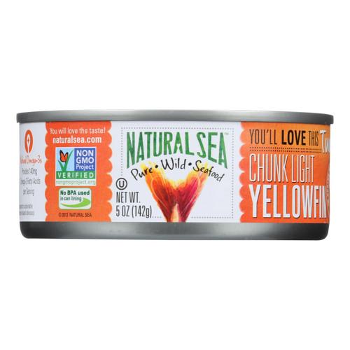 Natural Sea Wild Yellowfin Tuna - Unsalted - Case of 12 - 5 oz.