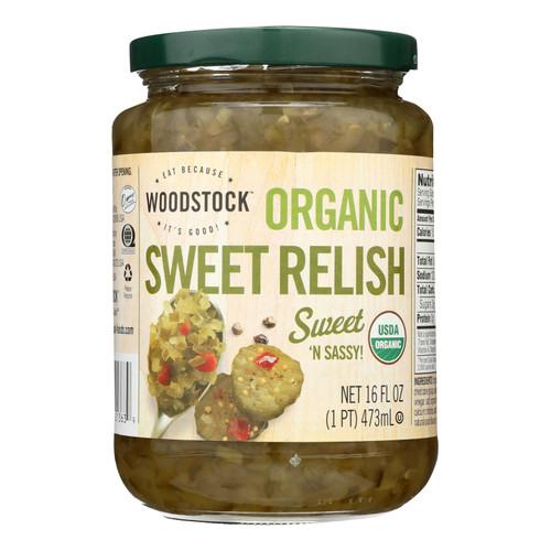 Woodstock Organic Sweet Relish - Case of 12 - 16 oz.