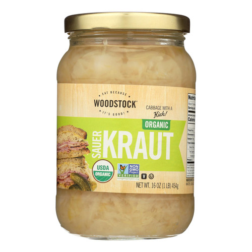 Woodstock Organic Sauerkraut - Case of 12 - 16 oz.