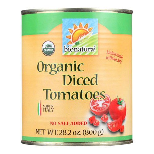 Bionaturae Tomatoes - Organic - Diced - 28.2 oz - case of 12