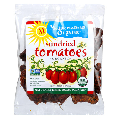 Mediterranean Organic Tomato - Organic - Sundried - in Bag - 3 oz - case of 12 on  Appalachian Organics