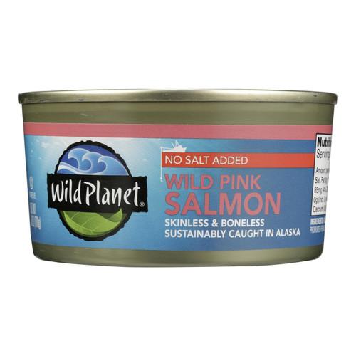 Wild Planet Wild Alaskan Pink Salmon - No Salt Added - Case of 12 - 6 oz. on  Appalachian Organics