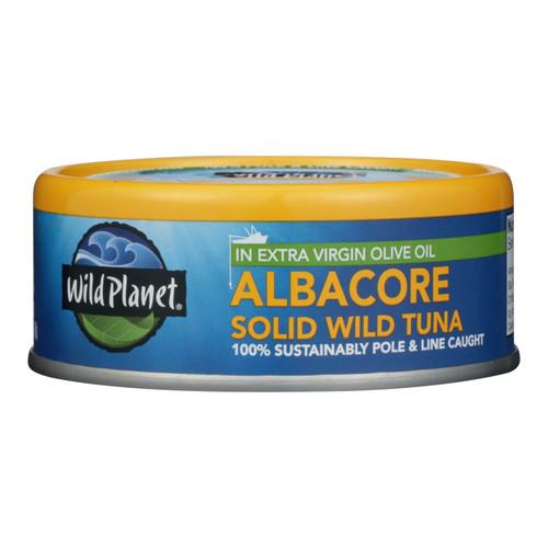Wild Planet Wild Albacore Tuna In Extra Virgin Olive Oil - Case of 12 - 5 oz.