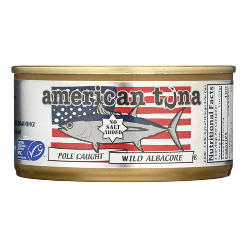 American Tuna - Canned Tune - No Salt - Case Of 24 - 6 Oz on  Appalachian Organics