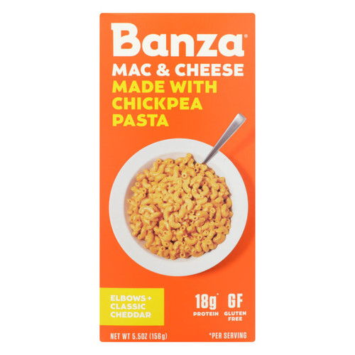 Banza - Chickpea Pasta Mac and Cheese - Classic Cheddar - Case of 6 - 5.5 oz. on  Appalachian Organics