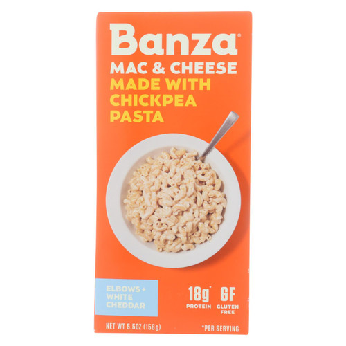 Banza - Chickpea Pasta Mac and Cheese - White Cheddar - Case of 6 - 5.5 oz. on  Appalachian Organics