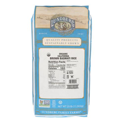 Lundberg Family Farms Organic Brown Basmati Rice - 25 Pound Bag