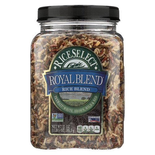 Rice Select Royal Blend - White, Brown and Red - Case of 4 - 21 oz.