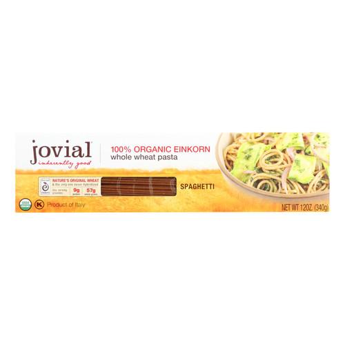 Jovial - Pasta - Organic - Whole Grain Einkorn - Spaghetti - 12 oz - case of 12
