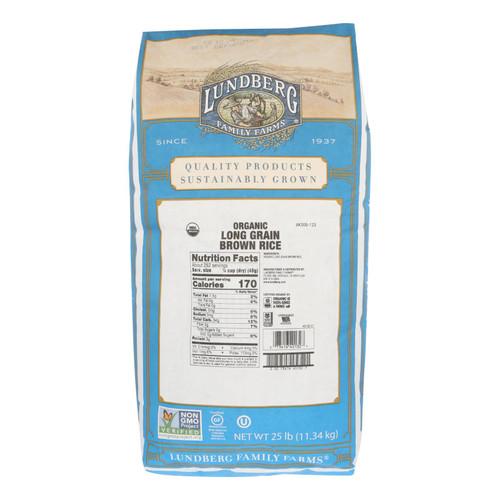 Lundberg Family Farms Organic Long Grain Brown Rice - Case of 25 lbs on  Appalachian Organics