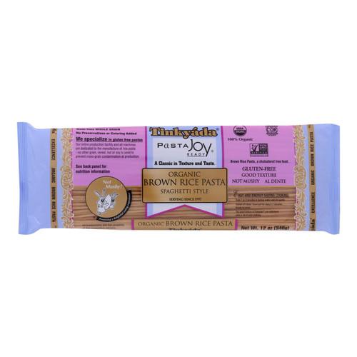 Tinkyada Organic Brown Rice Spaghetti - Case of 12 - 12 oz
