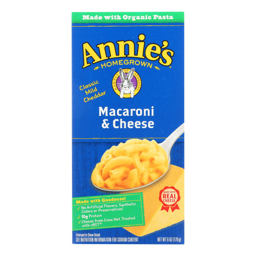 Annie's Homegrown Classic Macaroni and Cheese - Case of 12 - 6 oz. on  Appalachian Organics