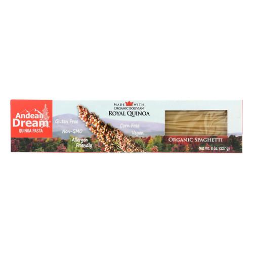 Andean Dream Gluten Free Organic Spaghetti Quinoa Pasta - Case of 12 - 8 oz.