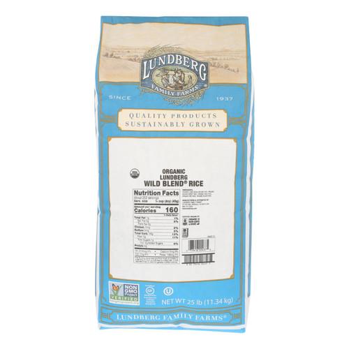 Lundberg Family Farms Organic Wild Blend Gourmet Brown Rice - Case of 25 lbs on  Appalachian Organics