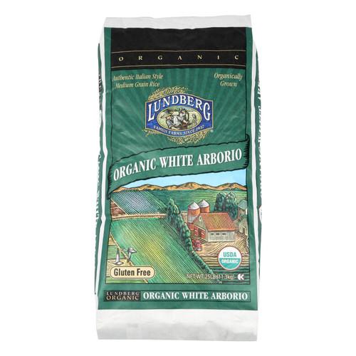 Lundberg Family Farms Organic California White Arborio Rice - Case of 25 lbs on  Appalachian Organics