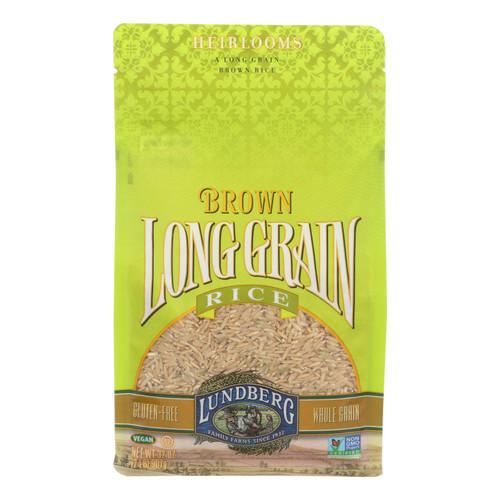 Lundberg Family Farms Long Grain Brown Rice - Case of 6 - 2 lb.