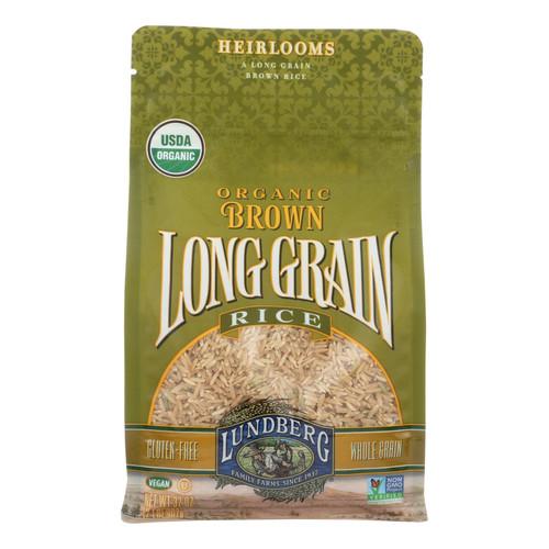Lundberg Family Farms Organic Brown Long Grain Rice - Case of 6 - 2 lb.