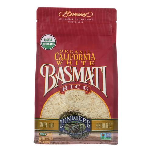 Lundberg Family Farms Organic White Basmati Rice - Case of 6 - 2 lb.