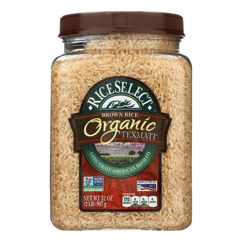 Rice Select Texmati Rice - Organic Brown - Case of 4 - 32 oz.