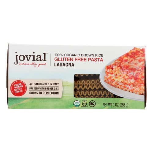 Jovial - Pasta - Organic - Brown Rice - Lasagna - 9 oz - case of 12