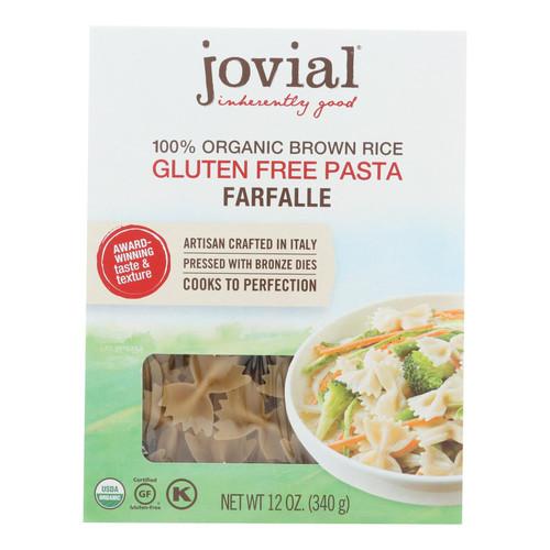 Jovial - Gluten Free Brown Rice Pasta - Farfalle - Case of 12 - 12 oz.